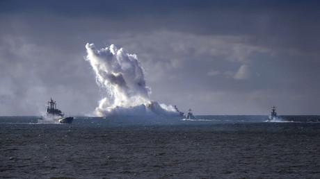 Russische Marine während der Übung