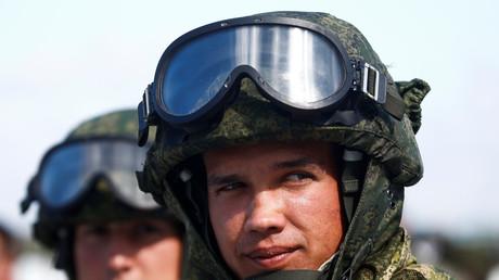 Russische Militärangehörige bei den Internationalen Armee Spielen 2017 bei Tjumen, Russland (August 2017)