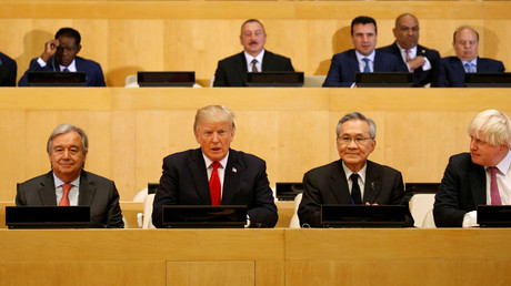 US-Präsident Donald Trump bei den Vereinten Nationen in New York, USA, 18. September 2017.