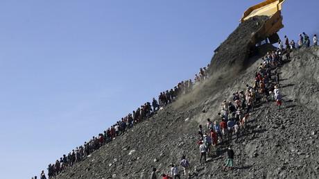Chinesische Jade-Mine in den Kachin-Bergen von Myanmar.