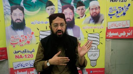 Mohammad Yaqoob Sheikh, der Kandidat der Partei Milli Muslim League (MML), die von dem mutmaßlichen Terroristen Hafiz Saeed kontrolliert sein soll.