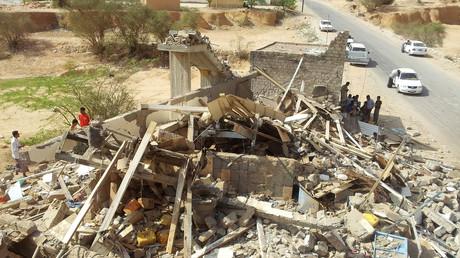 Blick auf ein Haus, welches nach Aussagen von jemenitischen Sicherheitskräften von US-Drohnen in Hadramout, südliche Provinz Jemens, 4. September 2012
