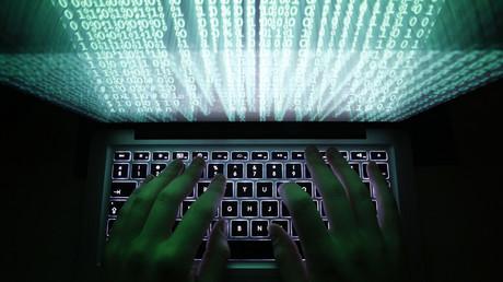 Illustration eines Hackers, Warschau, Polen, 28. Februar 2013.