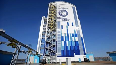 Der Start-Komplex auf dem Weltraumhafen