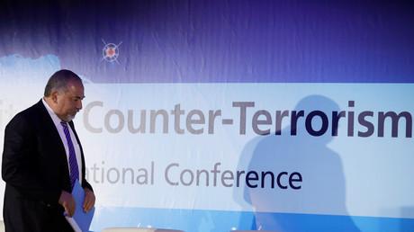 Avigdor Lieberman, israelischer Verteidigungsminister, während einer Anti-Terror-Konferenz in Herzliya, Israel, 11. September 2017.