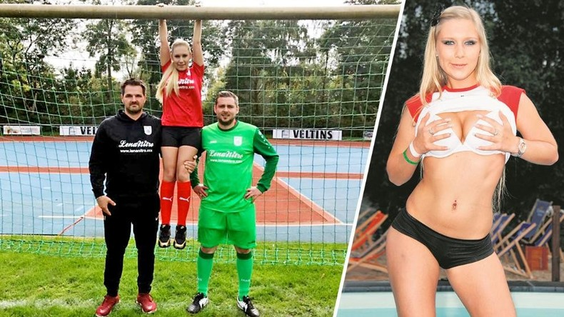 Porno-Star wird zu Trikot-Sponsorin von Fußballclub
