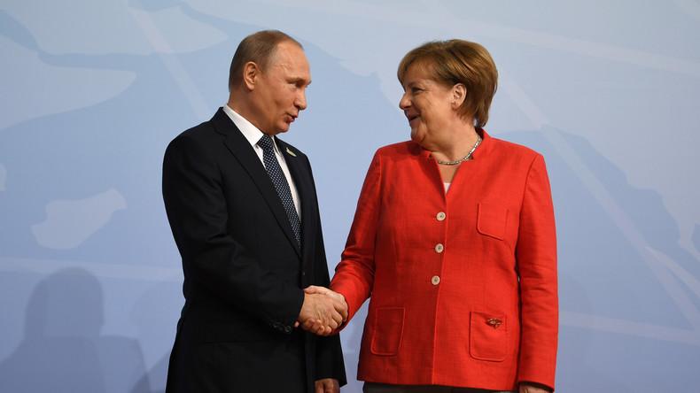Wladimir Putin gratuliert Steinmeier und Merkel zum Tag der Deutschen Einheit