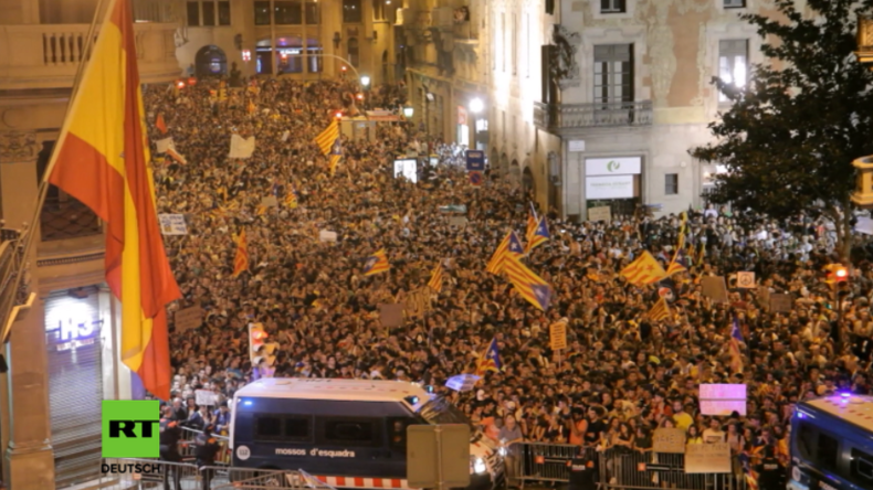 """Generalstreik """"zur Verteidigung der Demokratie"""" - Katalanen machen gegen Staatsgewalt mobil"""