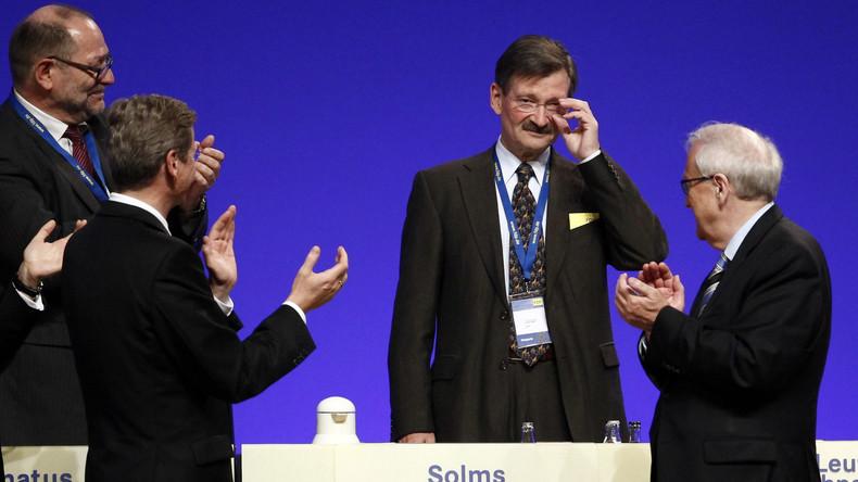 Otto Solms übernimmt vorübergehend die Amtsgeschäfte eines Bundestagspräsidenten