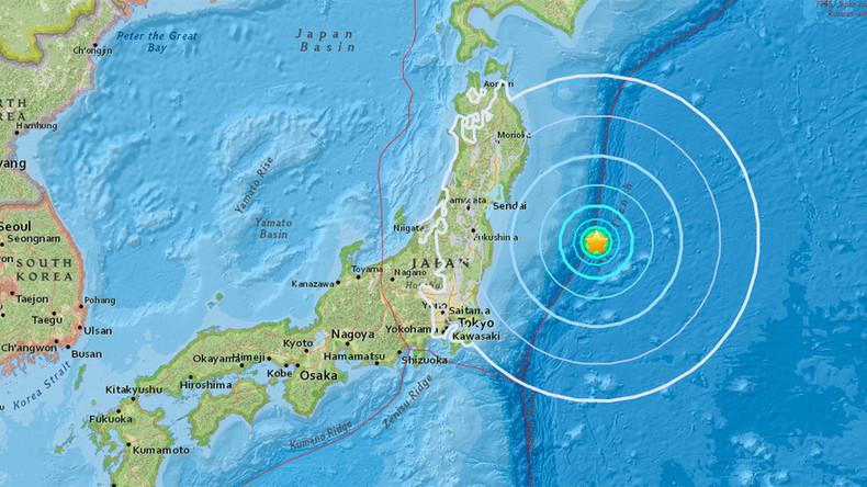 Erdbeben der Stärke 6 vor japanischer Ostküste aufgezeichnet