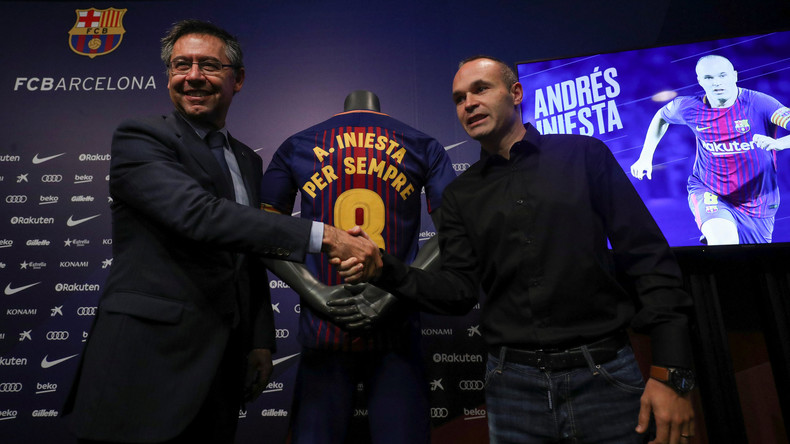 Andrés Iniesta unterschreibt lebenslangen Vertrag mit Barça