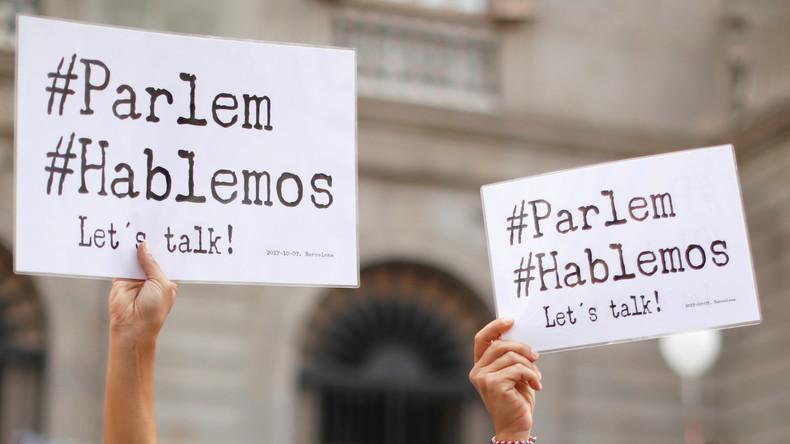 Spanische Bürger rufen mit Großkundgebungen zum Dialog zwischen Madrid und Barcelona auf