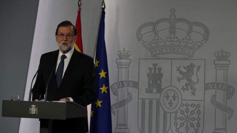 Spaniens Ministerpräsident schließt Aufhebung von Kataloniens Autonomie nicht aus
