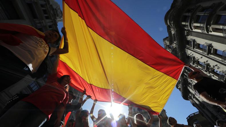 Barcelona: Gegner der Unabhängigkeit demonstrieren gegen die Abspaltung Kataloniens von Spanien