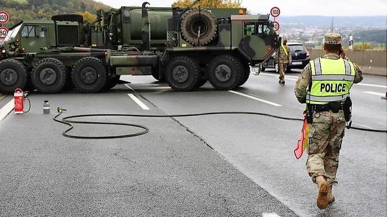 US-Militär-Gespann blockiert komplette A9 am Samstag für mehrere Stunden