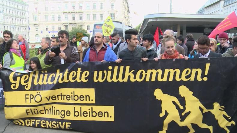Wien: Hunderte marschieren für Flüchtlinge und Muslime sowie gegen Sozialkürzungen