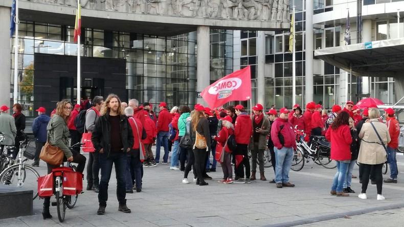 Belgische Beschäftigte im Öffentlichen Dienst fühlen sich von Politik verlassen und treten in Streik