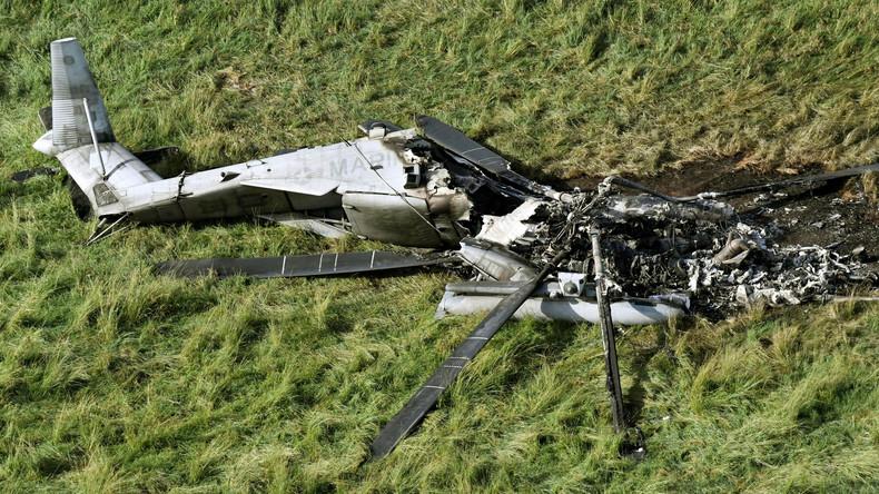 Nach Absturz: Okinawa verlangt Flugverbot für US-Marine-Helikopter