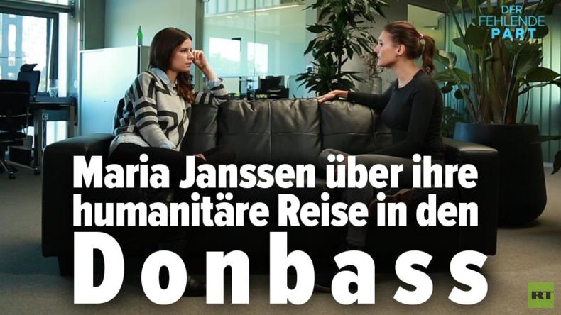 """RT Deutsch Reporterin Maria Janssen über ihren Film """"Hilfstransport – Eine Fahrt in den Donbass"""""""