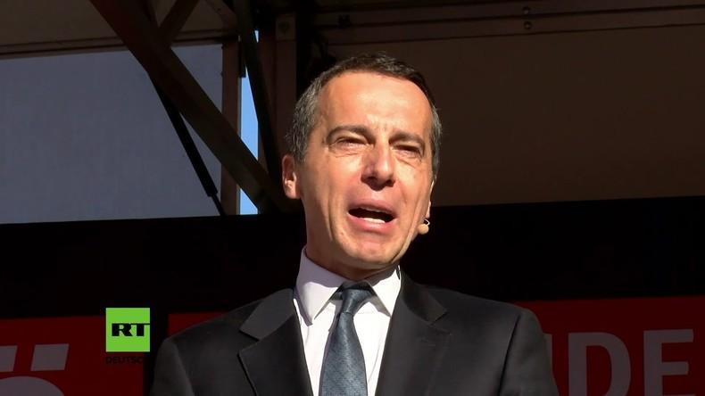 Österreich: SPÖ-Kundgebung mit Christian Kern in Wien