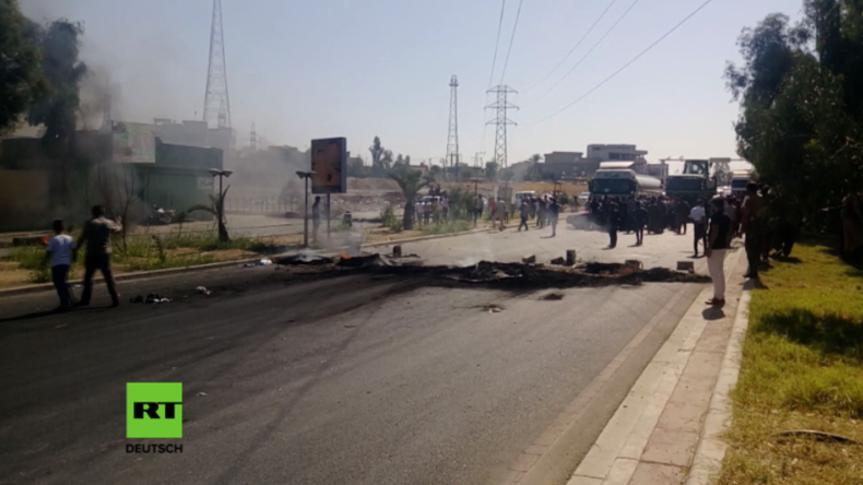 Kirkuk: Video soll Artillerieeinschuss der irakischen Armee in gefallener Kurdenhochburg zeigen