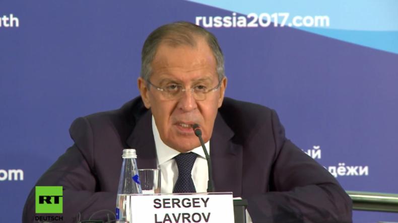 """Lawrow: """"Friedensnobelpreisträger Obama hat auf schlimmste Weise auf Russland gespuckt"""""""