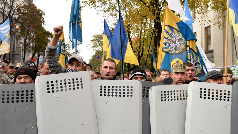 """""""Neuer Maidan"""": Saakaschwili-Anhänger errichten Protest-Lager und blockieren Parlament in Kiew"""