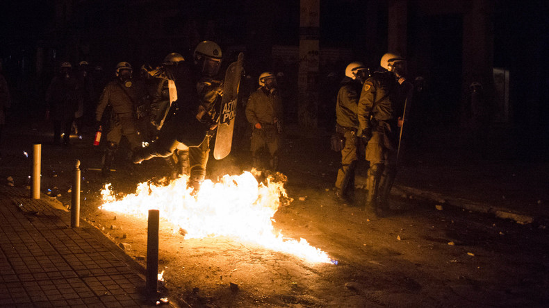 Erneut Chaosnacht im Athener Stadtviertel Exarchia