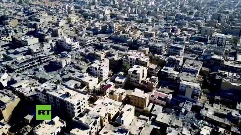 Syrien: Drohnenvideo zeigt die Zerstörung von Rakka nach der Befreiung vom IS