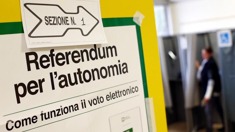 Referenden über mehr Autonomie in Norditalien