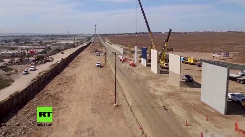 USA: Trump lässt Prototypen für geplanten Grenzzaun in Kalifornien hochziehen