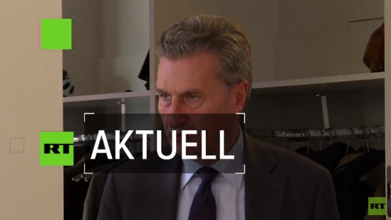 """CDU-Europapolitiker Günther Oettinger beim Bürgerdialog: """"Fluchtgründe von morgen erkennen."""""""
