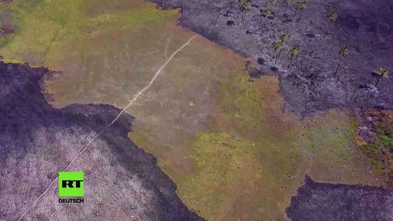 Brasilien: Drohne zeigt größten Brand auf UNESCO-Gebiet in der Geschichte