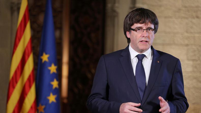 Katalanischer Regierungschef Puigdemont sagt Erklärung ab