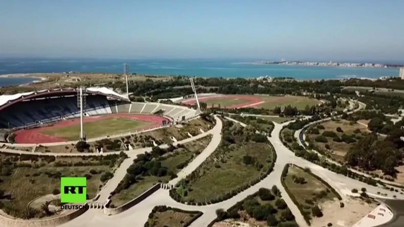 Latakia: Renovierung des Stadions nach Unterbringung von 5.500 Flüchtlingsfamilien fast fertig