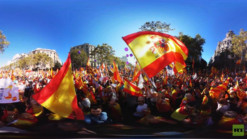 360°-Video: Über eine Million Menschen bei Kundgebung in Barcelona