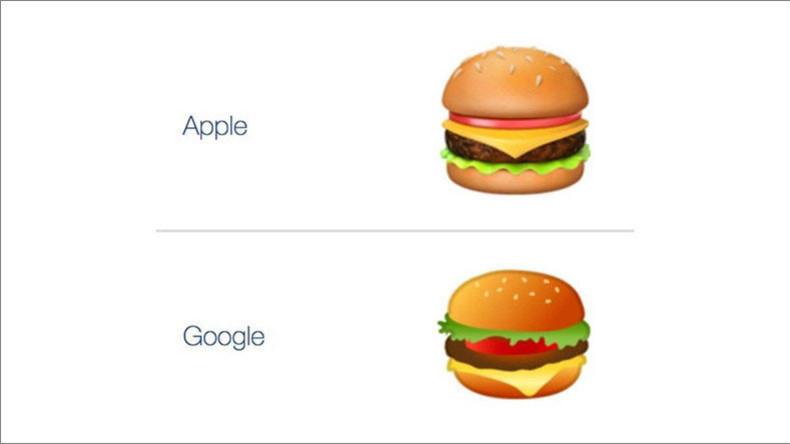 Burger-Emoji: Ist das Apple Emoji besser als das von Google?