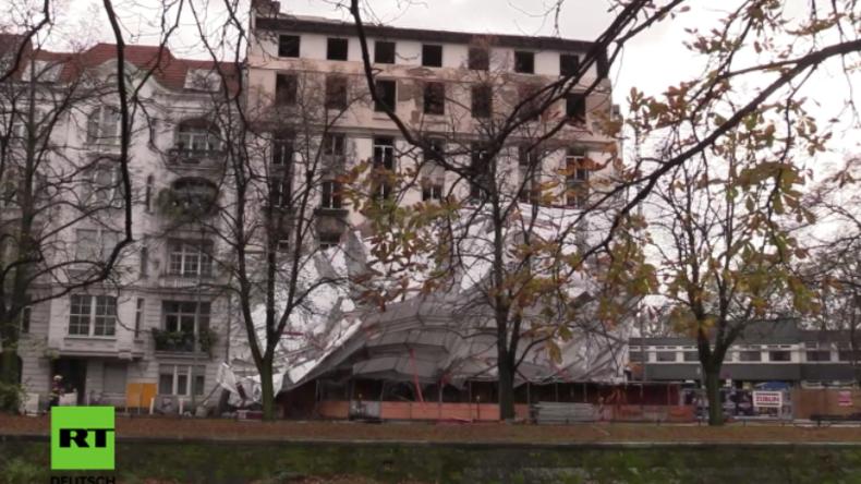 Eingestürzte Baugerüste und entwurzelte Bäume: Wieder Sturm-Chaos und Ausnahmezustand in Berlin
