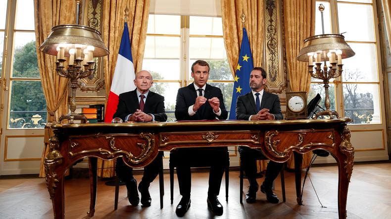 Frankreichs Präsident Macron unterzeichnet neues Anti-Terror-Gesetz