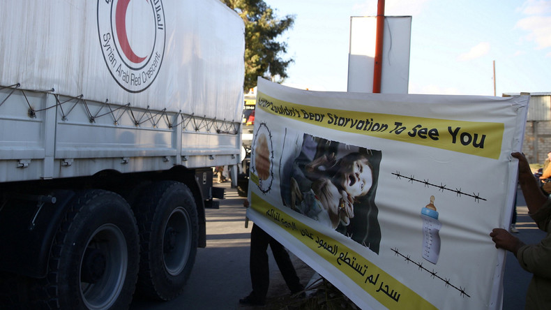 Russische Armee liefert UN-Hilfe nach Ostghuta bei Damaskus