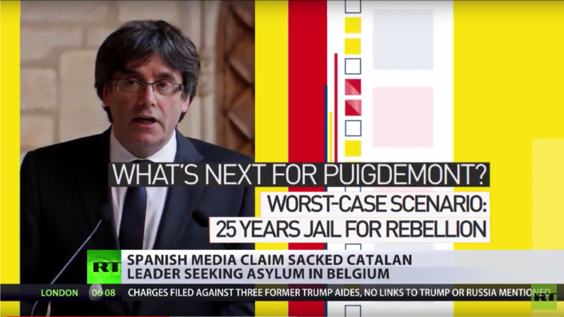 """Ende der Unabhängigkeit Kataloniens:  Puigdemont im """"politischen Asyl"""" in Belgien"""