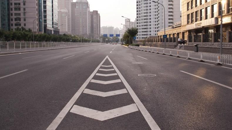 Erste Straße aus Müll in Peking steht vor Einweihung