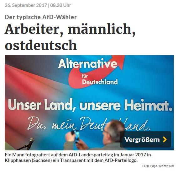 BIAJ-Analyse: 68 Prozent der AfD-Wähler leben in Westdeutschland