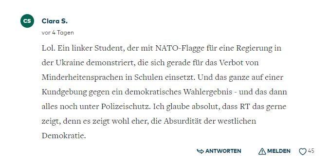 Frustrierter NATO-Troll im Springer-Interview: RT ist uns immer einen Schritt voraus