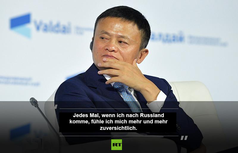 """Jack Ma: """"Alibaba sollte mit russischem Nachwuchs kooperieren, um Russland weiterzuentwickeln"""""""
