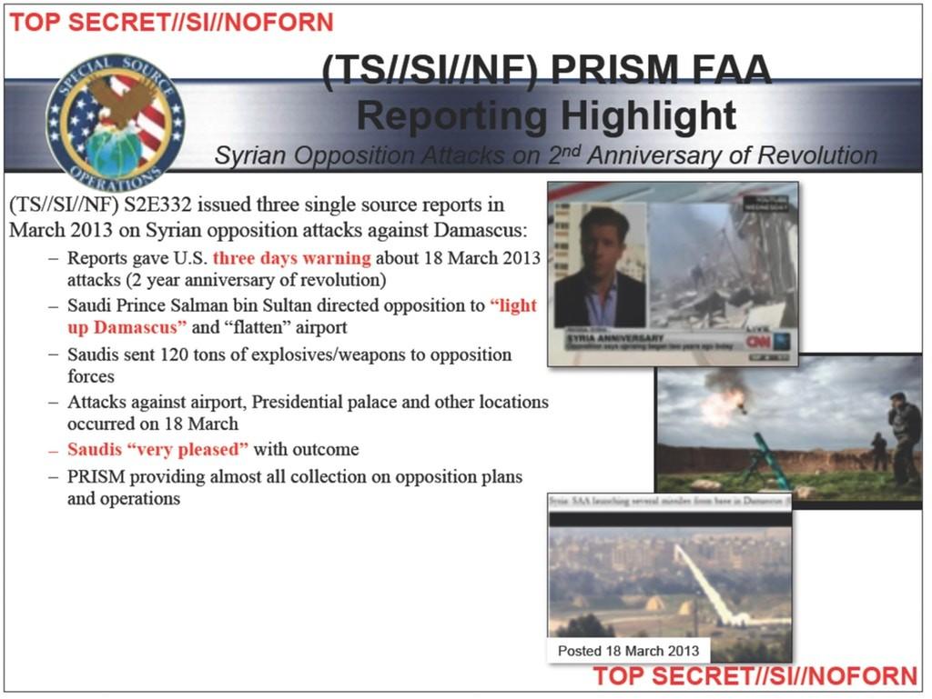 """NSA-Dokument: Riad befehligte Angriff auf Damaskus – Stadt sollte """"in Brand gesetzt"""" werden"""