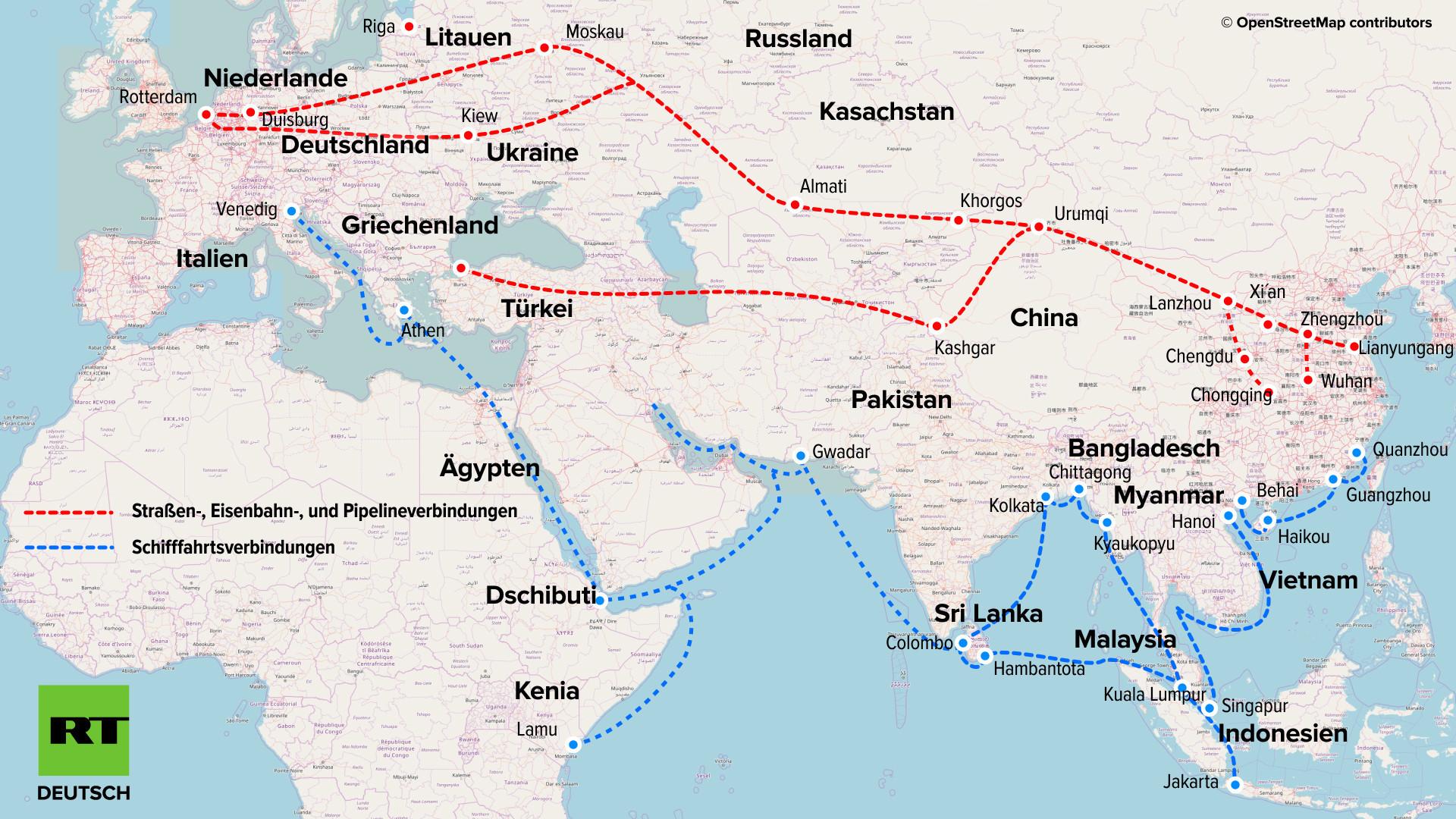 """Asien: Japan will die """"Neue Seidenstraße"""" untergraben und aggressiver gegen Peking vorgehen"""