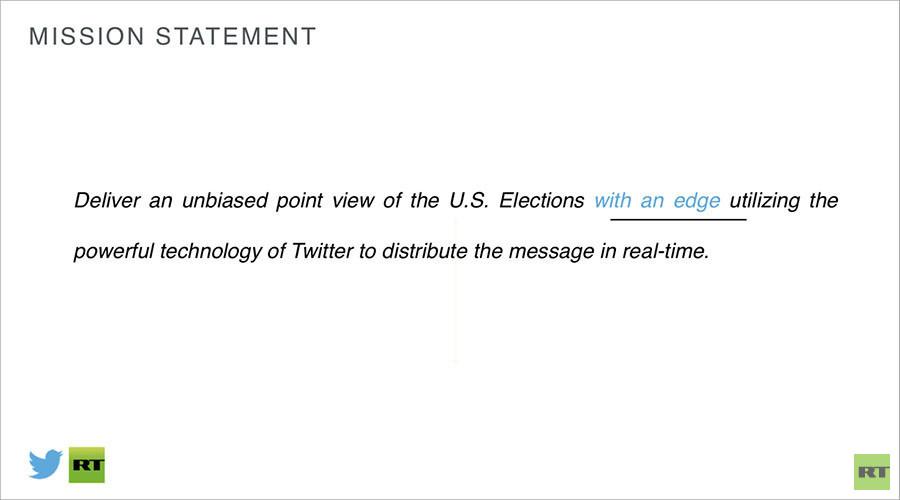 Aufgedeckt: Wie Twitter RT dazu bringen wollte, in US-Wahlen zu investieren