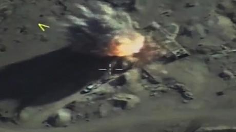 Russlands Luftstreitkräfte zerstören Ausbildungslager für IS-Söldner in Syrien (Archivbild)