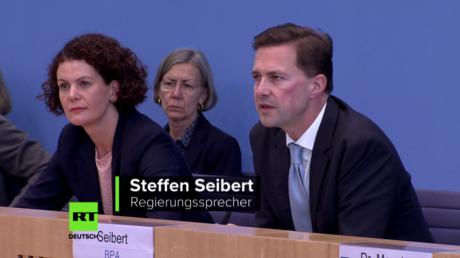 Regierungssprecher Steffen Seibert äußert sich zur Deutschen Einheit und zur Lage der EU. (4. Oktober 2017, Berlin)